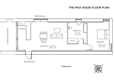floor plan for the milk house