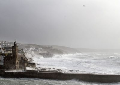storm at Porthleven